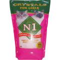 N1 Силикагелевый наполнитель для Кошечек, 5л Розовый (Crystals)